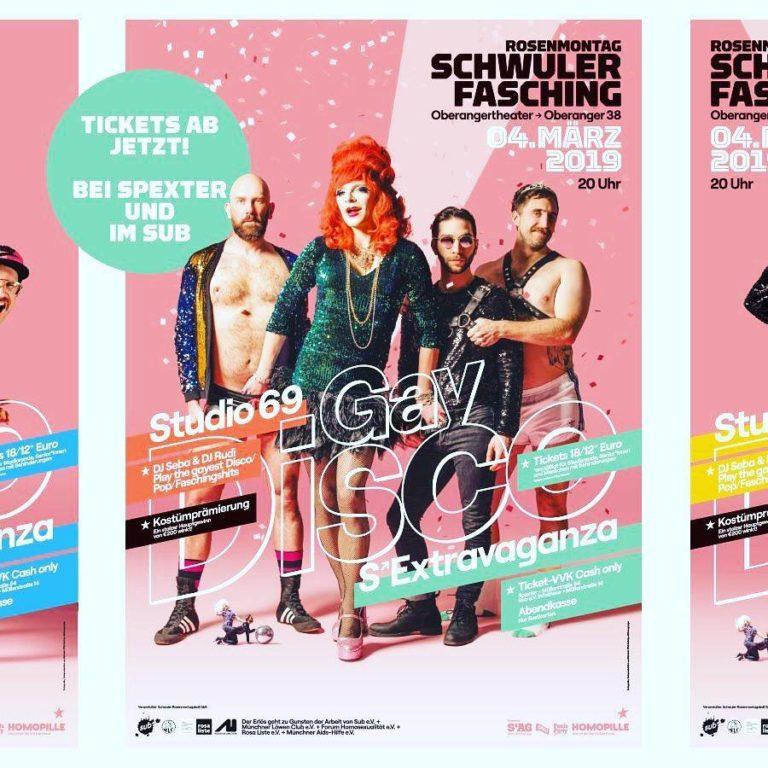 Fasching 2019 Plakat Sub schwul München
