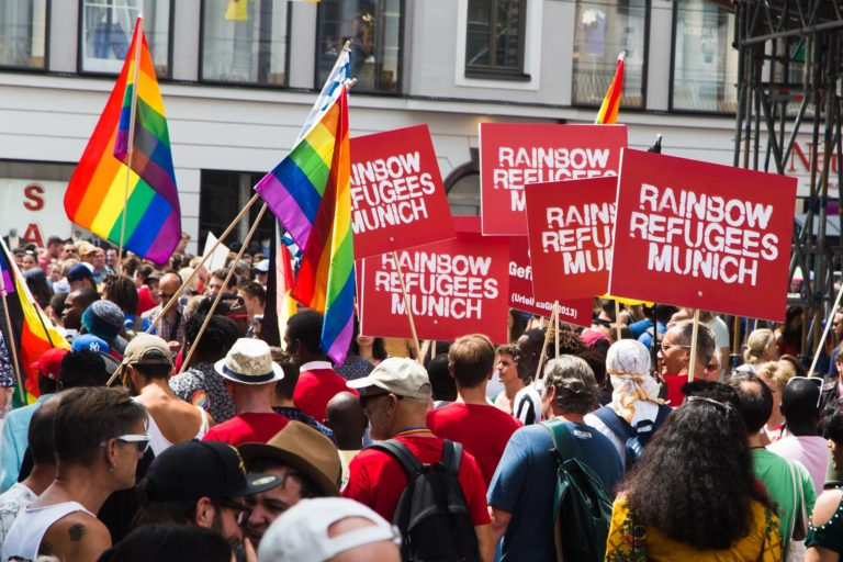 Refugees Rainbow Munich Sub CSD Gay Pride 2018 V